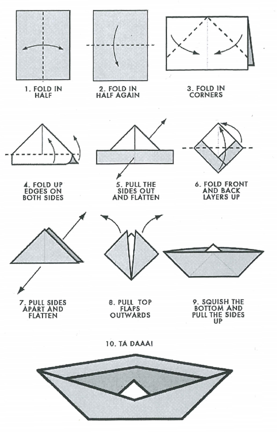 Paper-Boat-Instructions
